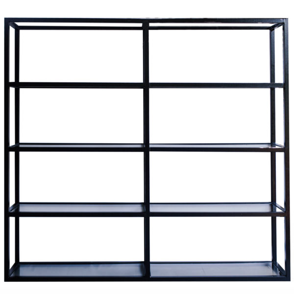 Live Simple | Glass & Steel Shelve