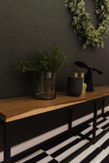 Live Simple   Long Kiaat & Steel Bench
