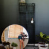 Live Simple | Round Industrial Mirror